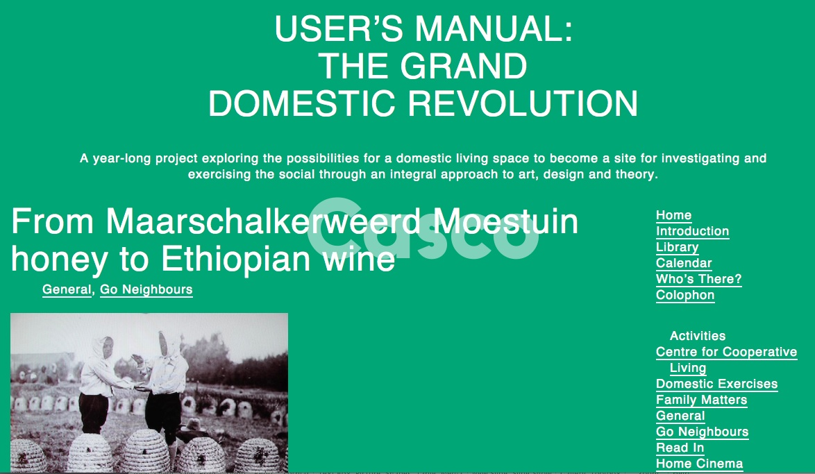 Wietske Maas» Blog Archive » User\'s Manual: The Grand Domestic ...